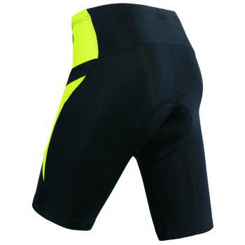 Realtoo Men's Cycling Shorts Padded Bicycle Riding Pants - CHARTREUSE L