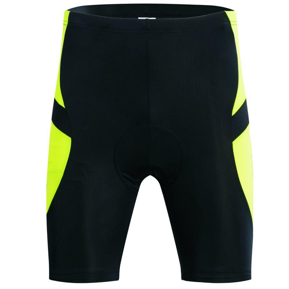 Realtoo Men's Cycling Shorts Padded Bicycle Riding Pants - CHARTREUSE XL