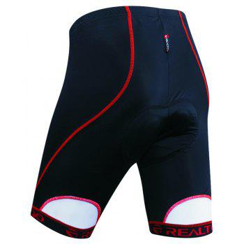 Realtoo Men's Biking Shorts Padded Bicycle Riding Pants - RED XL