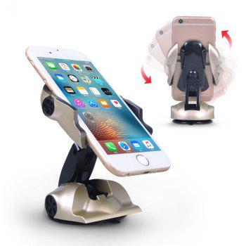 Car Navigation Folding Magnetic Sports Car Bracket for Phone - GOLDEN