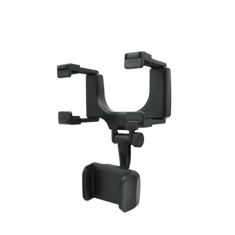 Car Rearview Mirror Universal Navigation Bracket - BLACK