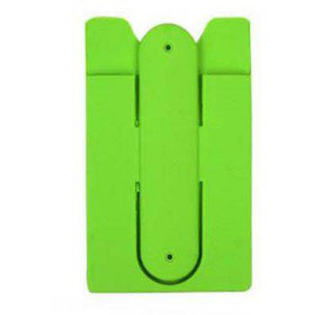 Silicone Card Holder Phone Holder Lazy With Sucker Bracket - GREEN