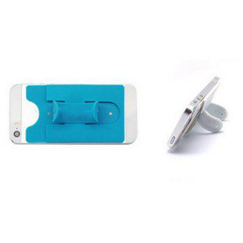 Silicone Card Holder Phone Holder Lazy With Sucker Bracket - BLUE