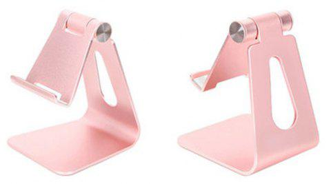 Cell Phone Stand Universal Adjustable Aluminum Desktop Cell Phone Tablet Stand Holder for Cell Phones All Size and E-Rea - ROSE GOLD