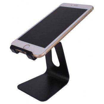 Cell Phone Stand Universal Adjustable Aluminum Desktop Cell Phone Tablet Stand Holder for Cell Phones All Size and E-Rea - BLACK
