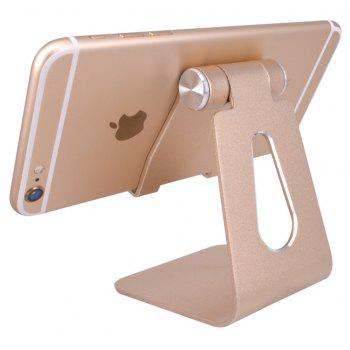 Cell Phone Stand Universal Adjustable Aluminum Desktop Cell Phone Tablet Stand Holder for Cell Phones All Size and E-Rea - GOLDEN