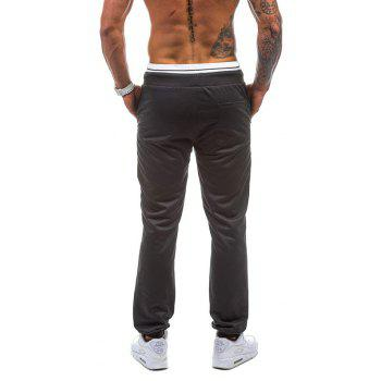 2018 New Spring Casual Fashion Casual 78 Digital Casual Pants - BLACK L