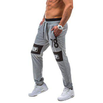 2018 New Spring Casual Fashion Casual 78 Digital Casual Pants - LIGHT GRAY L