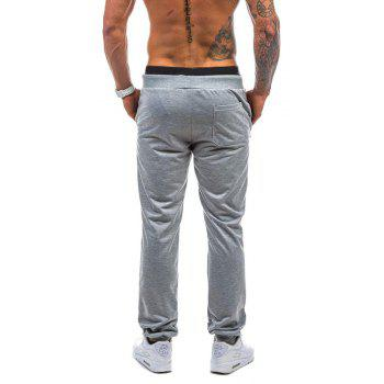 2018 New Spring Casual Fashion Casual 78 Digital Casual Pants - LIGHT GRAY M
