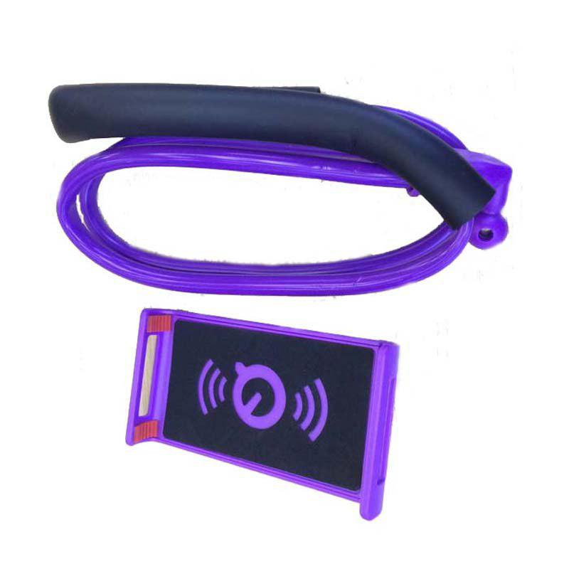 360-Degree Rotating Mobile Phone and Plate Bracket Hanging Around The Neck - PURPLE