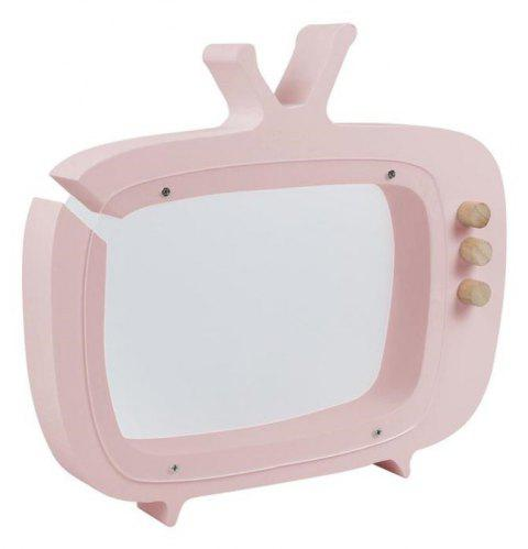 Wooden New TV Set Piggy Bank Children's Room Display Photography Props Money Box Home Decorative Kid's Gift - PINK