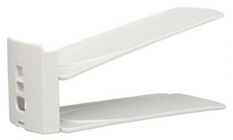 Adjustable Double Layer Simple Shoes Rack Frame Plastic Holder Home Storage Hanger Integrated Save Space - WHITE