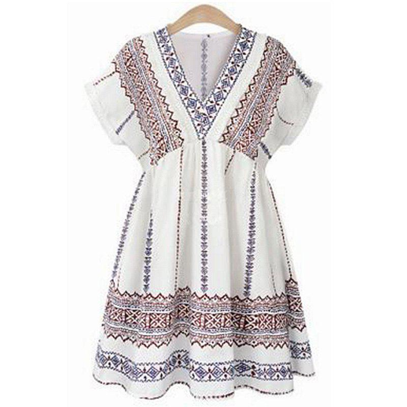 2018 Summer New Fashion Dress - multicolor C 3XL