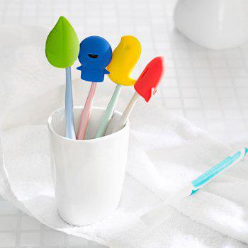 Creative Silicone Toothbrush Holder - YELLOW