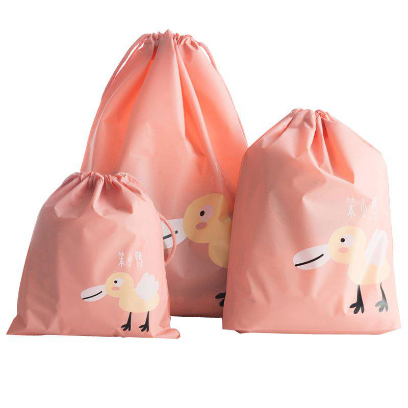 Travel Waterproof Drawstring to Storage Bags - ORANGE