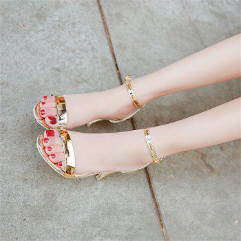 Fine with Sexy Ferret Toe Buckle Simple Sandals - GOLD 35