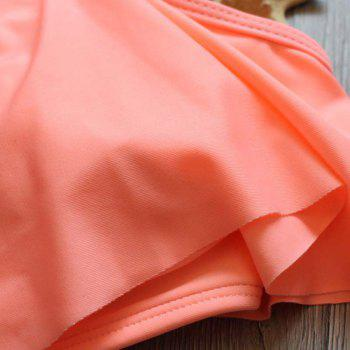 Sling Two Piece Set Swimsuit - LIGHT CORAL XL