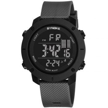 SYNOKE 9658 Outdoor Multifunction Large Dial Men Sports Electronic Watch - GRAY