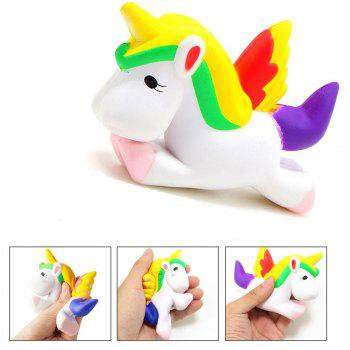 Slow Rising Jumbo Squishy Kawaii Licorne cheval peluche 2PCS - multicolor