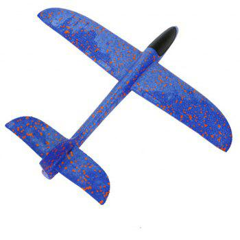 Foam Throwing Glider Inertia Aircraft Hand Launch Airplane Model Outdoor Sports Flying Toy - BLUE
