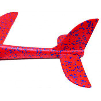 Foam Throwing Glider Inertia Aircraft Hand Launch Airplane Model Outdoor Sports Flying Toy - RED
