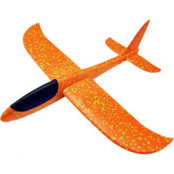 Foam Throwing Glider Inertia Aircraft Hand Launch Airplane Model Outdoor Sports Flying Toy - ORANGE
