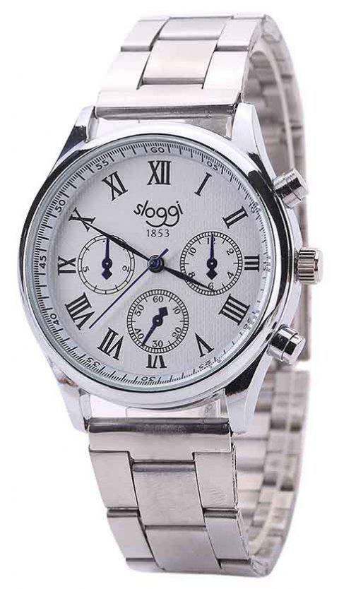 Steel Band Men Casual Business Watch - SILVER