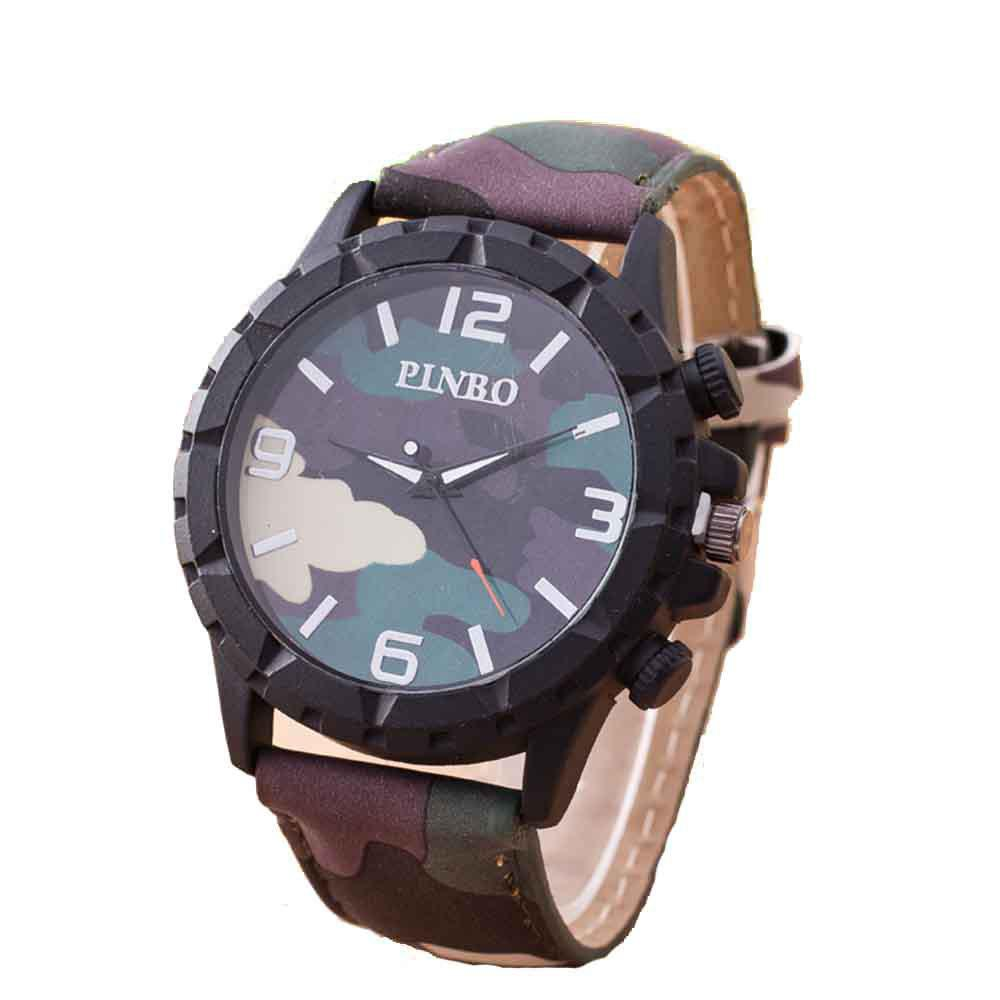 Men Fashion Camouflage Military Watch - WOODLAND CAMOUFLAGE