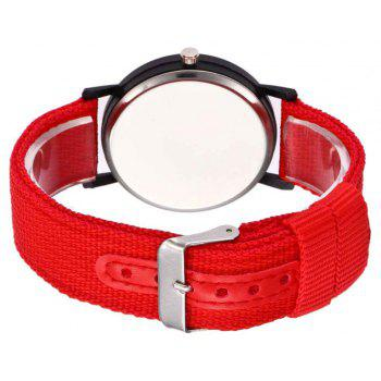 Male Sport Military Personality Quartz Watch - RED