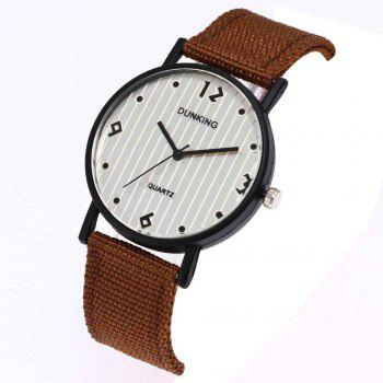 Male Sport Military Personality Quartz Watch - BROWN