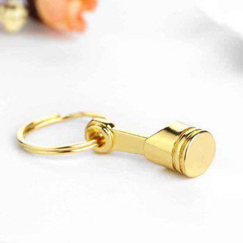 Creative Gift Personalized Car Engine Modified Piston Metal Key Chain - GOLD