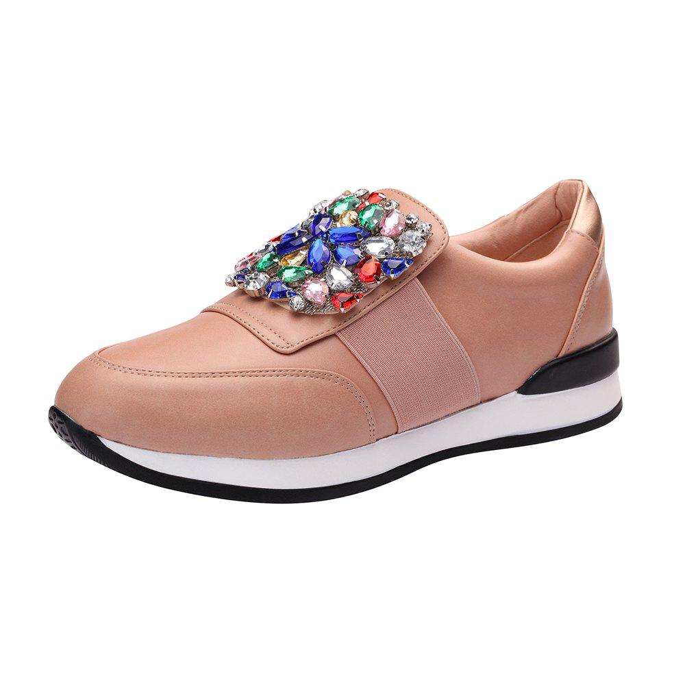 Chaussures de baskets en strass - Rose 36