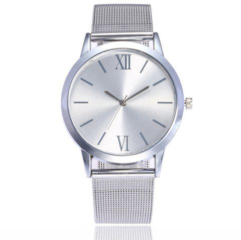 Roman Stainless Steel Mesh Watch - SILVER