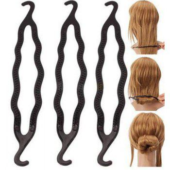 5PCS High-quality Magic Style Double Hook Hairstyle Hair Clip - BLACK