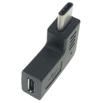 Cwxuan Type-C Male to Micro USB Female Adapter - BLACK