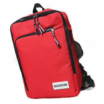 Backpack Outdoor Casual Student Multi-functional Handbag - RED VERTICAL