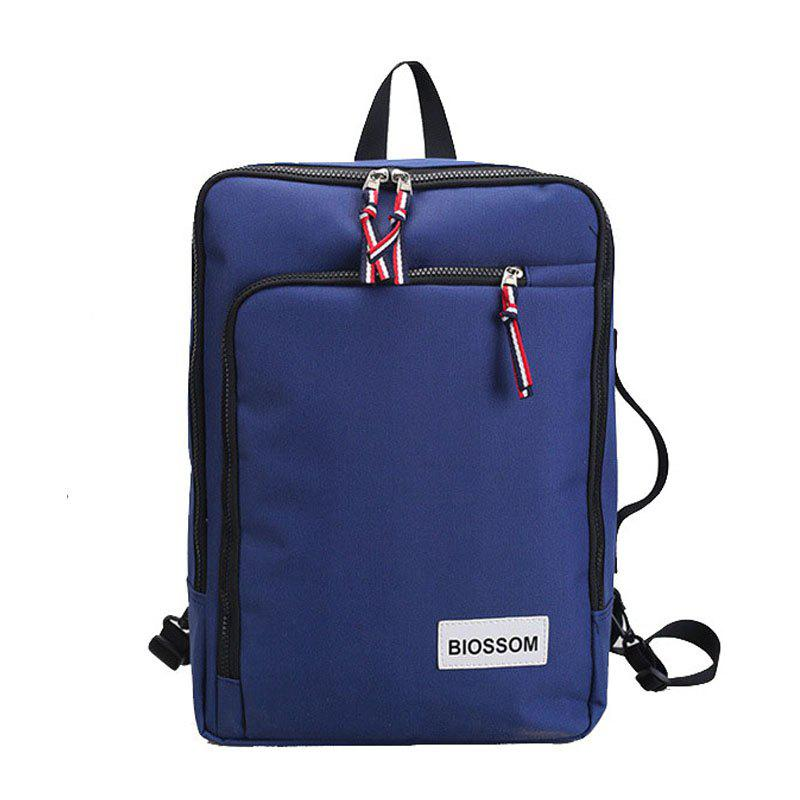 Backpack Outdoor Casual Student Multi-functional Handbag - BLUE VERTICAL