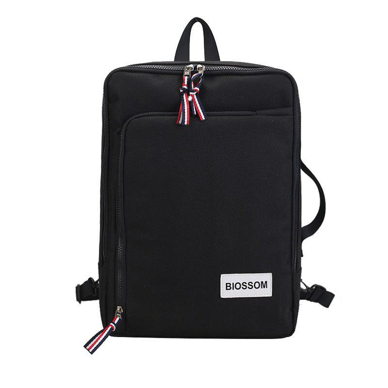 Backpack Outdoor Casual Student Multi-functional Handbag - BLACK VERTICAL