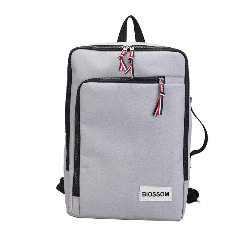 Backpack Outdoor Casual Student Multi-functional Handbag - GRAY VERTICAL