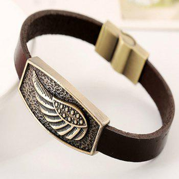 Men's Bracelet Casual Fashion PU Alloy Vintage Trendy All Match Accessory - BROWN