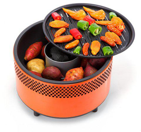 Portable Charcoal Ultimate Electric Outdoor Barbecue Grill - ORANGE