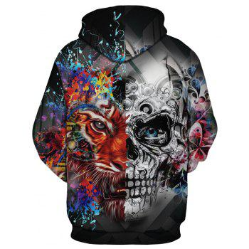 New Fashion Skull 3D Printing Men's Hoodie - multicolor A S