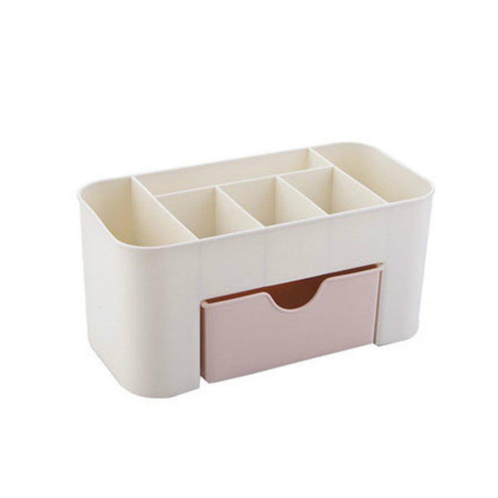 Desktop Makeup Box with A Small Drawer Multi-Purpose Jewelry Box Storage - PINK