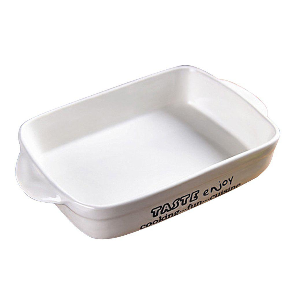 Ceramic Ears High Temperature Baking Tray - WHITE
