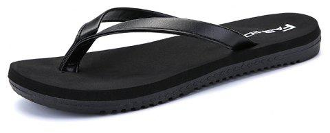 Tongs occasionnels en plein air Walking Beach Lovers Chaussures - Noir 44