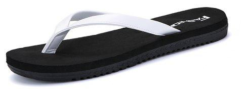 Tongs occasionnels en plein air Walking Beach Lovers Chaussures - Blanc Lait 44