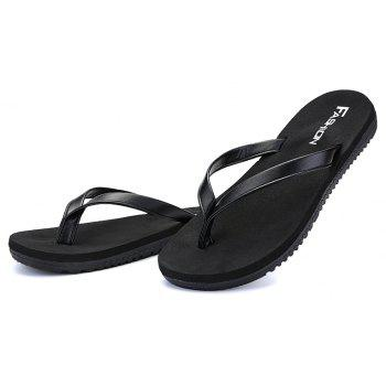 Outdoor Casual Flip Flops Walking Beach Lovers Shoes - BLACK 41