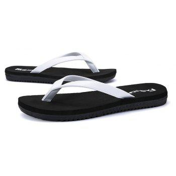 Outdoor Casual Flip Flops Walking Beach Lovers Shoes - MILK WHITE 44