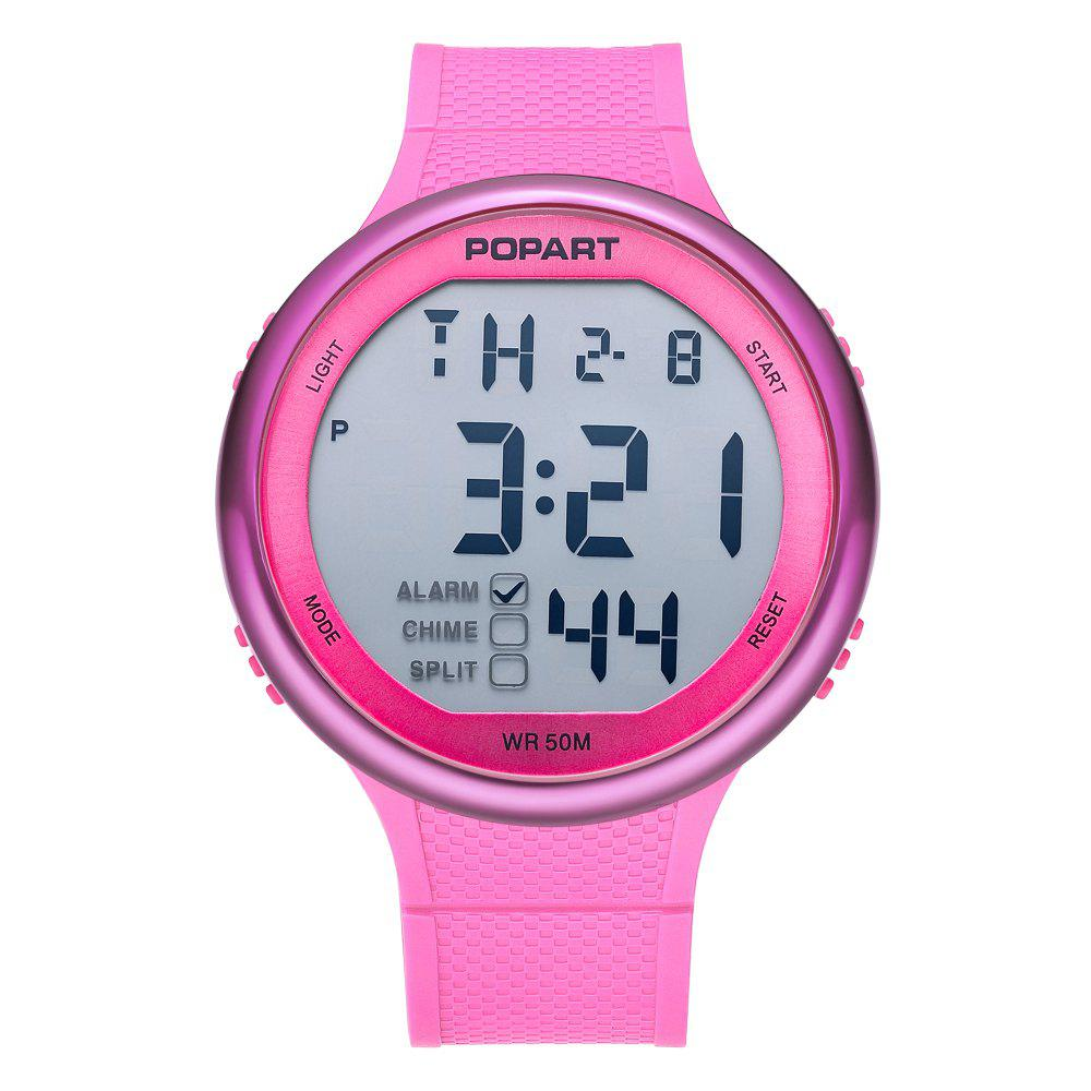 POPART POP-936 Unisex Digital Watch with 50 Meter Waterproof - PINK DAISY