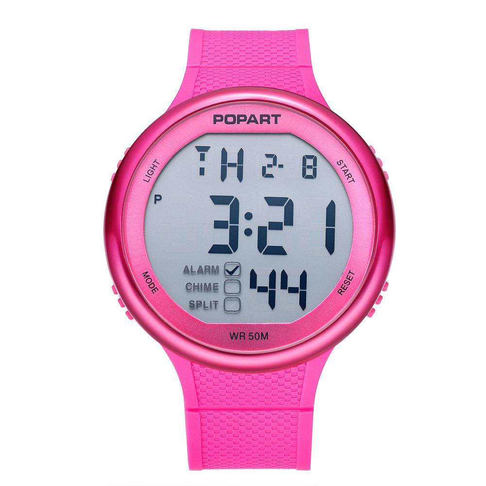 POPART POP-936 Unisex Digital Watch with 50 Meter Waterproof - DIMORPHOTHECA MAGENTA